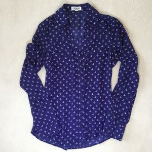 Express Portofino long sleeve button up blouse